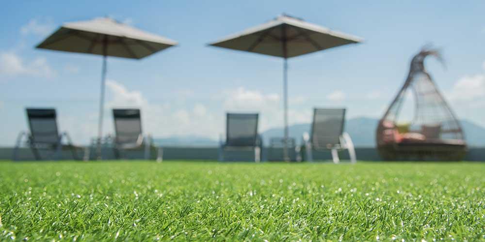 artificial grass on concrete