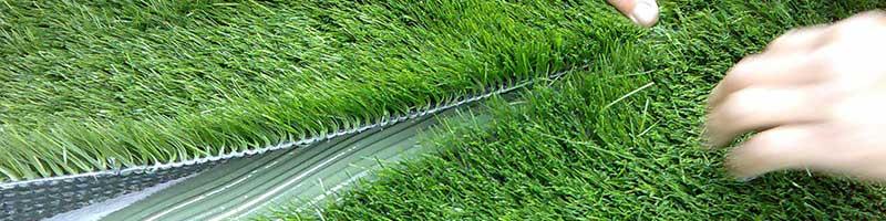 gluing artificial grass seems