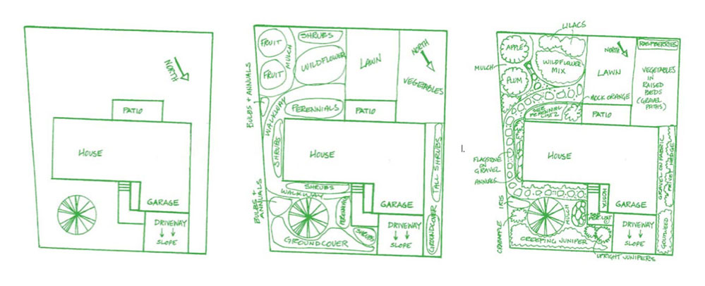xeriscape plan diagram
